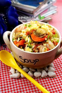 海鲜蛋炒饭