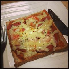 黑椒火腿大虾吐司披萨