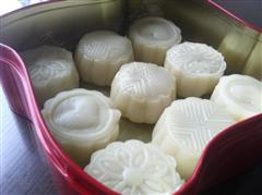榴莲冰皮月饼