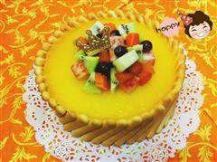 芒果流心冻芝士蛋糕