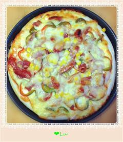 腊肠培根披萨