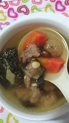 菜干胡萝卜排骨汤