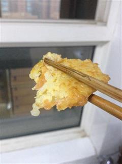 喷香米饭西红柿鸡蛋饼