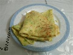 白菜玉米面鸡蛋饼