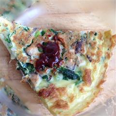 菠菜香菇粉丝鸡蛋饼
