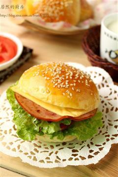 卡士达火腿小汉堡