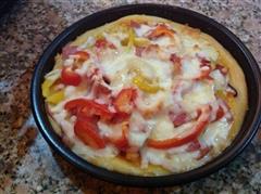 第一次做的培根披萨