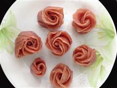 粉色玫瑰馒头