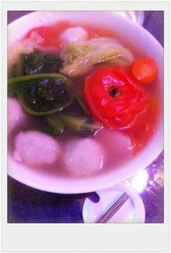 蔬菜汤的蔬菜关东煮