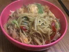 家常日式炒面,十分钟懒人料理