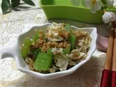 蛋白炒莴笋肉松