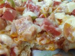 甩必胜客一百条街的披萨