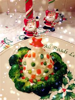 圣诞树版土豆泥