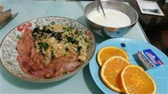培根海苔蛋炒饭