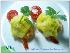 芝士土豆泥焗虾