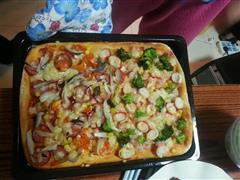 海,陆  披萨