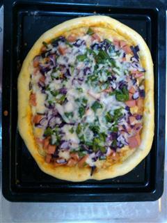 青椒火腿披萨