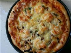 大虾香菇披萨