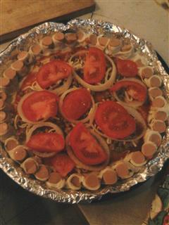 飞饼版花边披萨