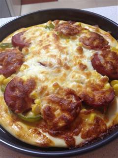 火腿熏肉披萨