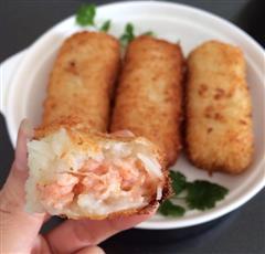 土豆泥鲜虾卷