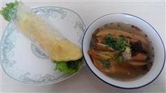 鸡汤豆腐串+鸡蛋灌饼  经典组合,美味晚餐