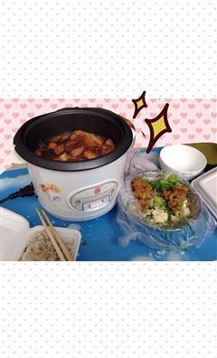 电饭锅版广式香肠红烧肉