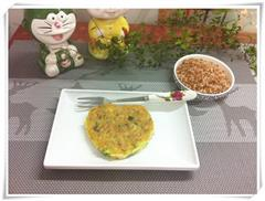 红米饭鸡蛋饼