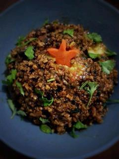 香菇肉沫土豆泥