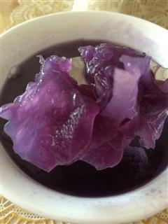 紫薯冰糖银耳汤