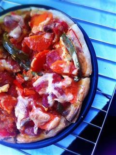 7寸简易芝士烤肠披萨