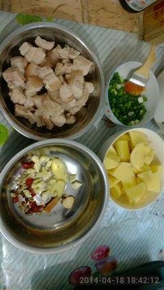 土豆炖红烧肉