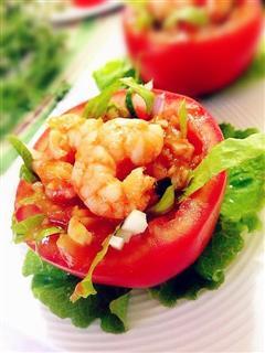 番茄盅虾沙拉