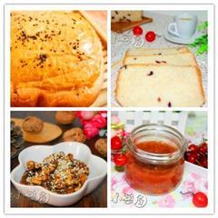—蔓越莓吐司+樱桃果酱+琥珀核桃