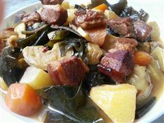 乐乐自家菜-红烧肉炖海带