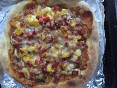 火腿蘑菇披萨