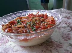 红烩烤蛋皮土豆泥