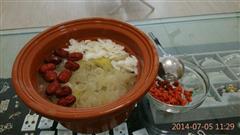 红枣,百合银耳汤