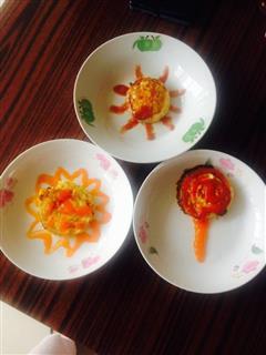 太阳、葵花、棒棒糖鸡蛋饼
