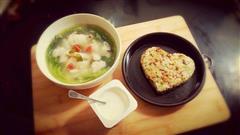 幸福的土豆泥米饭饼-一个人吃饭也要精致美味