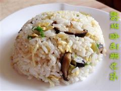 酸菜香菇蛋炒饭