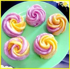 面包机版玫瑰花馒头