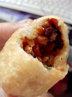 香菇红萝卜瘦肉豇豆煎饼