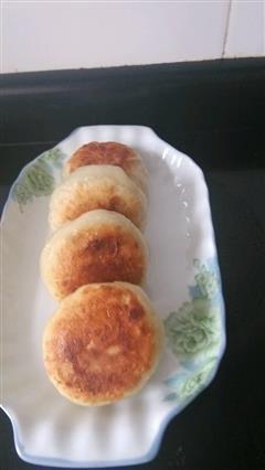 绿豆肉松烫面煎饼