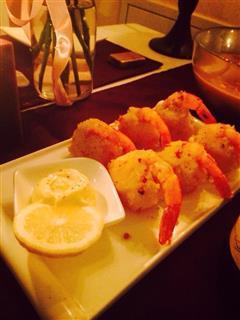 可爱好吃的土豆泥虾球