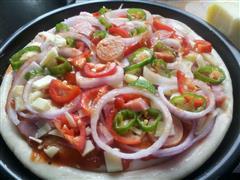 懒人火腿披萨
