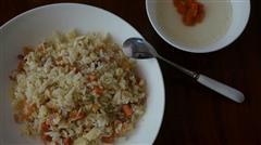 培根火腿虾米蛋炒饭