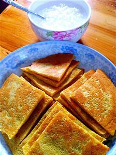 早餐胡萝卜洋葱肉松鸡蛋饼