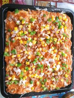 玉米青椒披萨