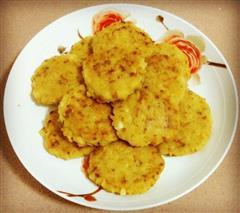 经济又简单的早餐-米饭肉松煎饼